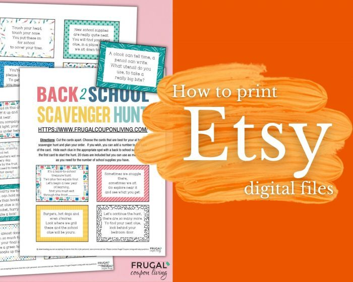 how to print Etsy digital downloads