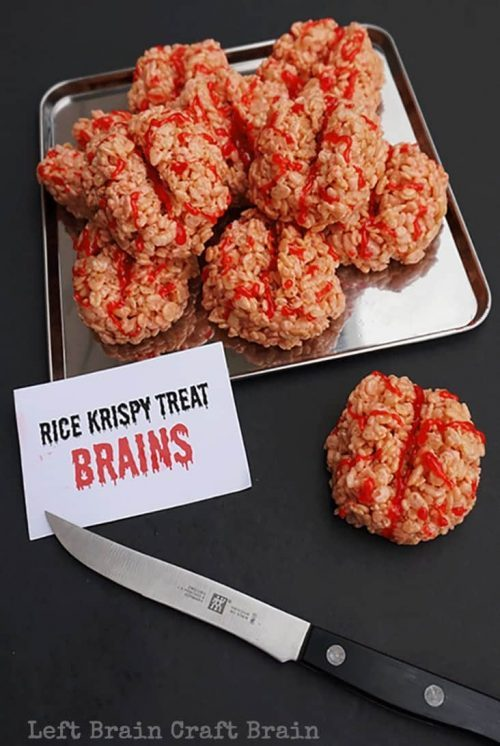 Halloween Party Mad Scientist Theme Rice Krispie Treats Party Food