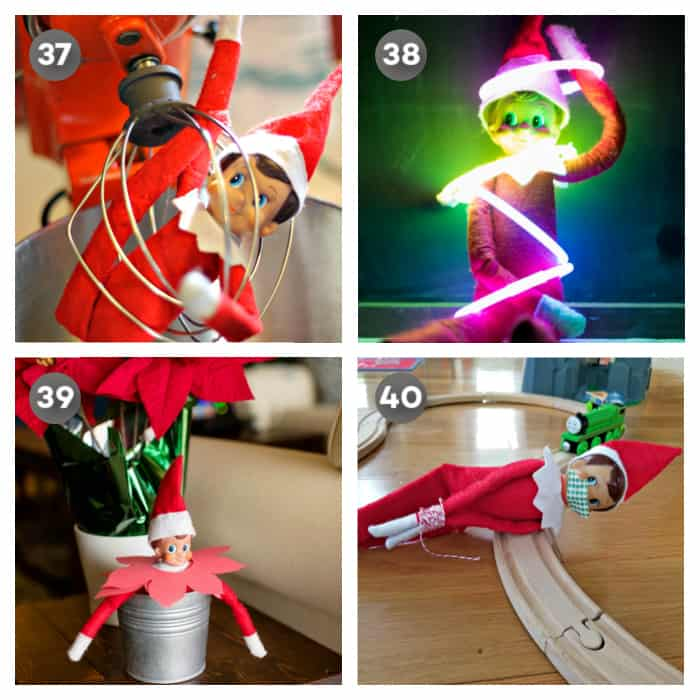Cute easy elf on the shelf ideas