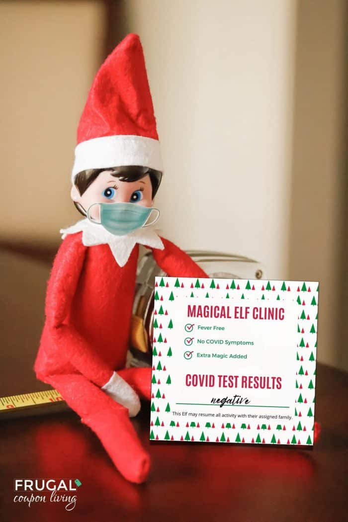 Elf on the Shelf Covid test results