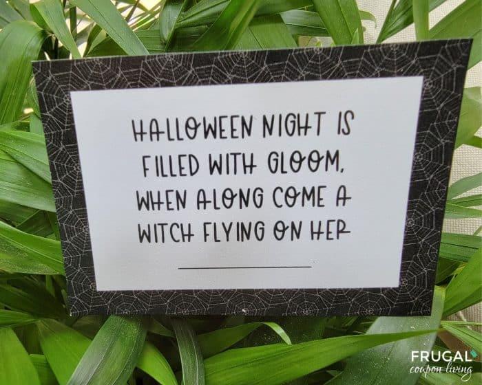 Halloween Scavenger Hunt Printable Clues