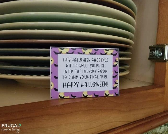 Halloween Treasure Hunt Printable Clues for kids