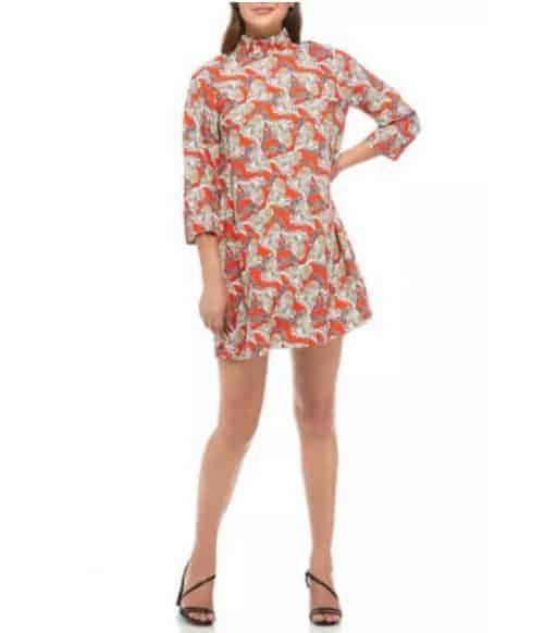 belk animal print fall dress