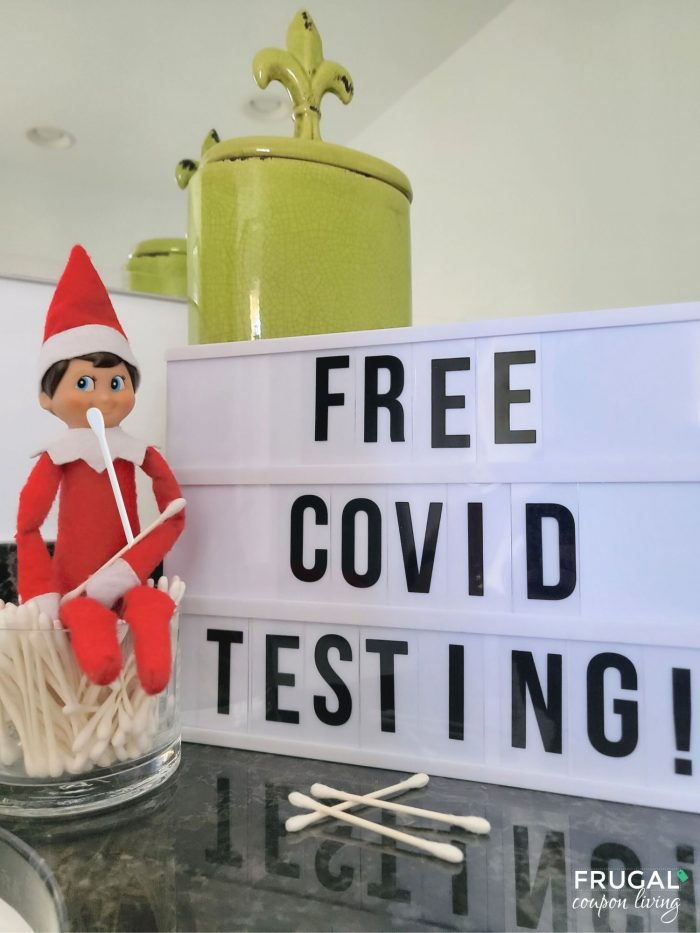Elf on the Shelf COVID Test