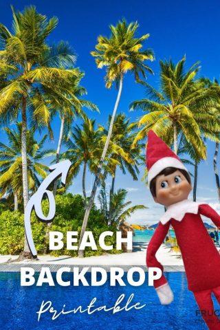 free elf on the shelf beach printable