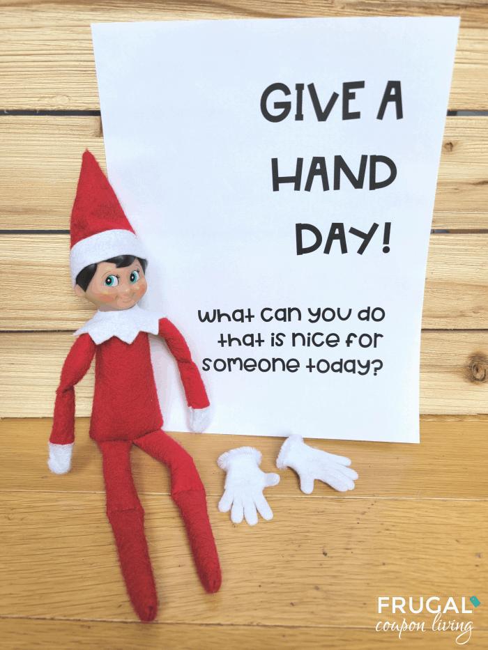 Helping Elf on the Shelf Hands