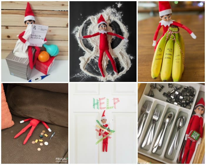 lazy elf on a shelf ideas