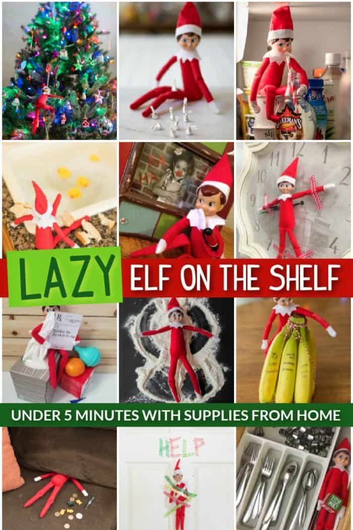 lazy elf on the shelf ideas