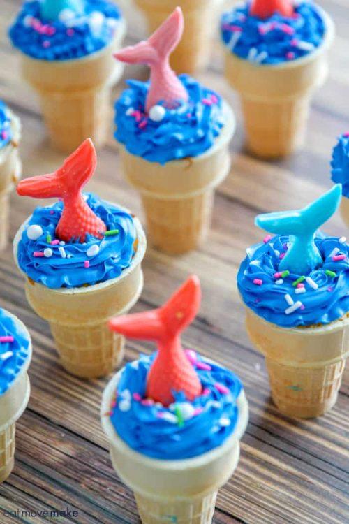 mermaid ice cream cone cake