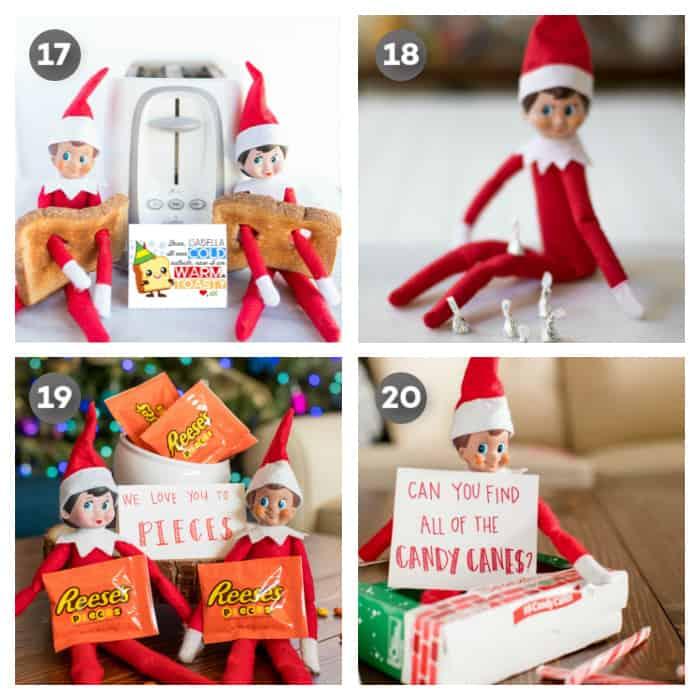 quick easy elf on the Shelf ideas