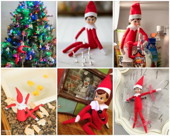 Quick elf on a shelf ideas