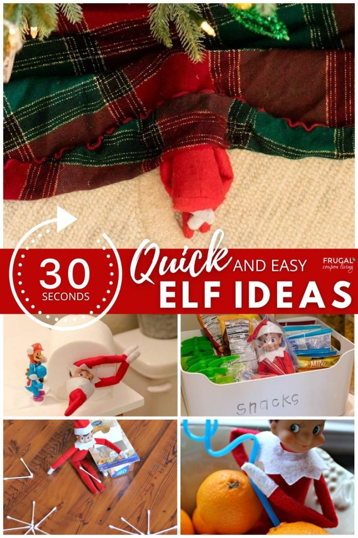 last minute quick and easy Elf on the Shelf Ideas