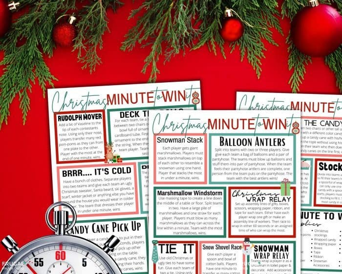Christmas 60 Second Challenge Games