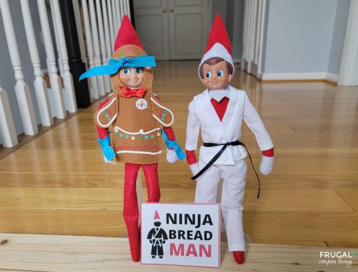Ninjabread Man printable sign Elf on the Shelf