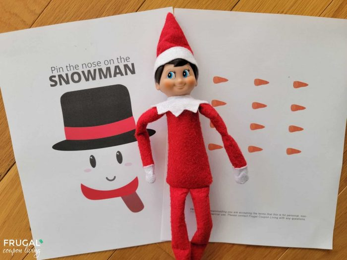 Pin the Nose on the Snowman Printable