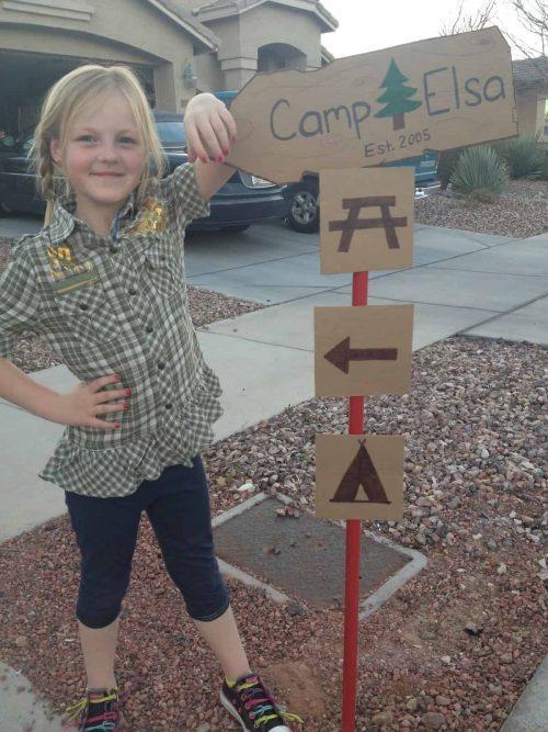 DIY campsite signs