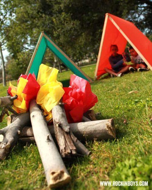 pretend campfire craft