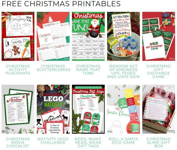christmas games printables