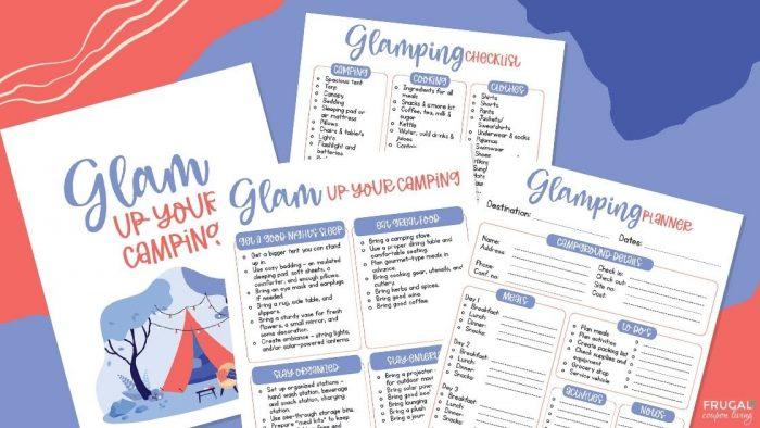 glamping checklist