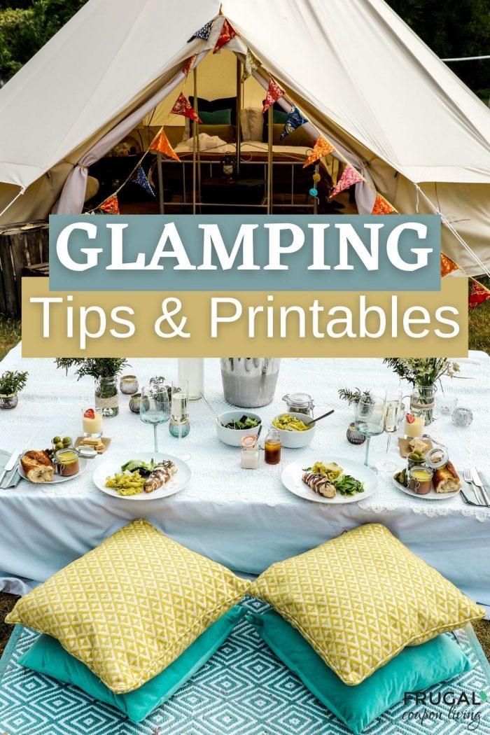 glamping tips and glamping printables