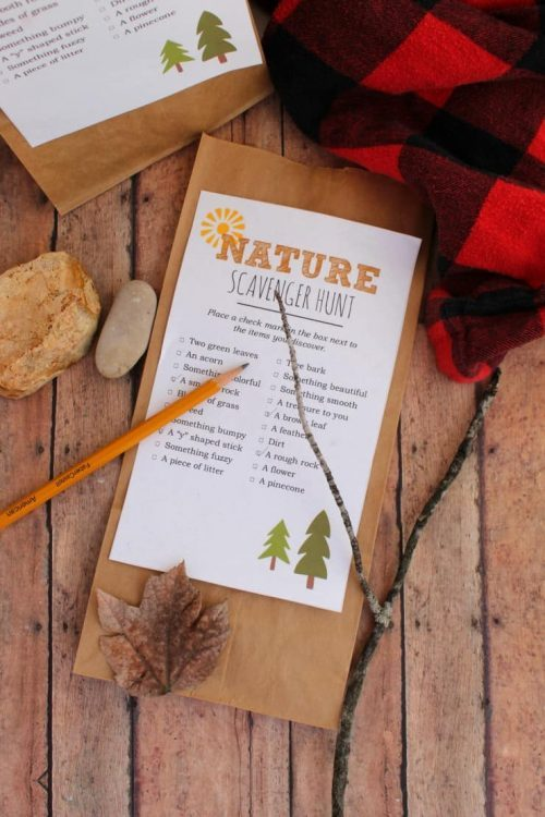 nature scavenger hunt camping activity