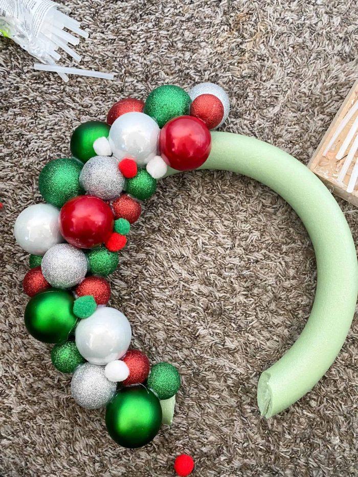 DIY Ornament Wreath Craft