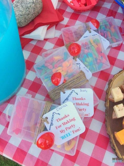 tackle box camping party favor
