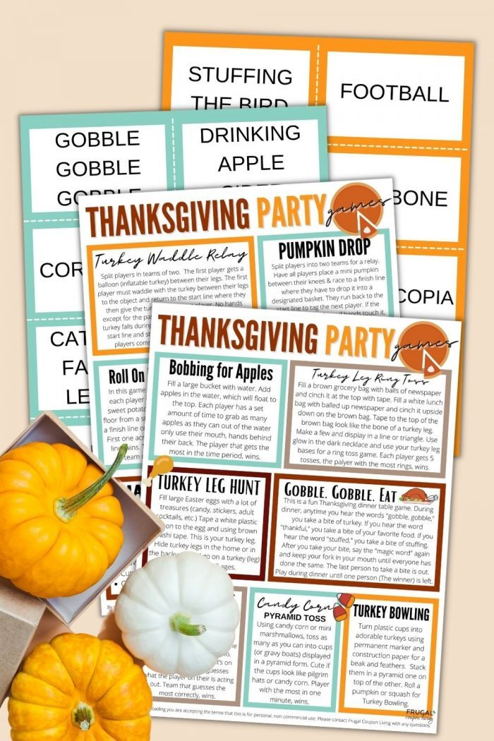 Thanksgiving party games printable