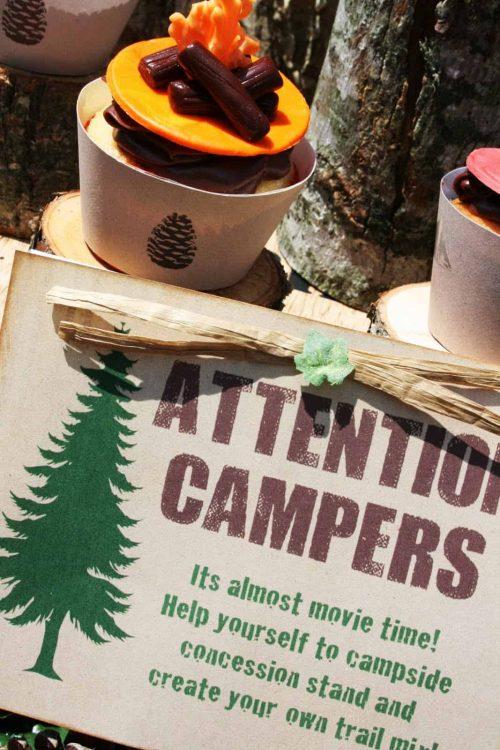camping trail mix bar