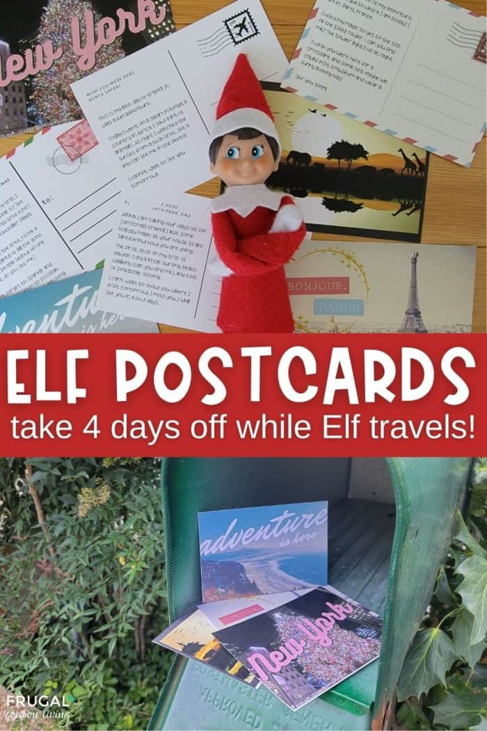 Elf on the Shelf Postcards