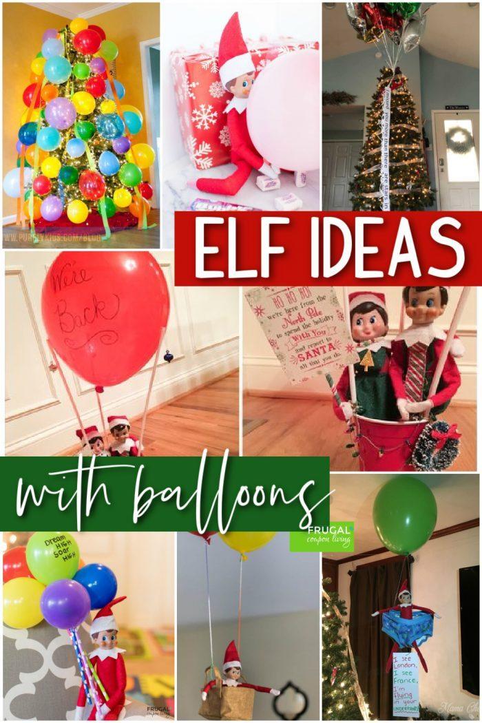 Elf on the Shelf Balloon Ideas
