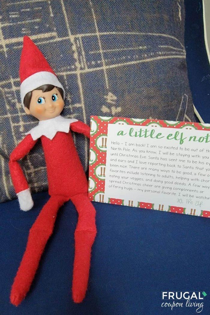 Arrival Elf on the Shelf Letter Hello