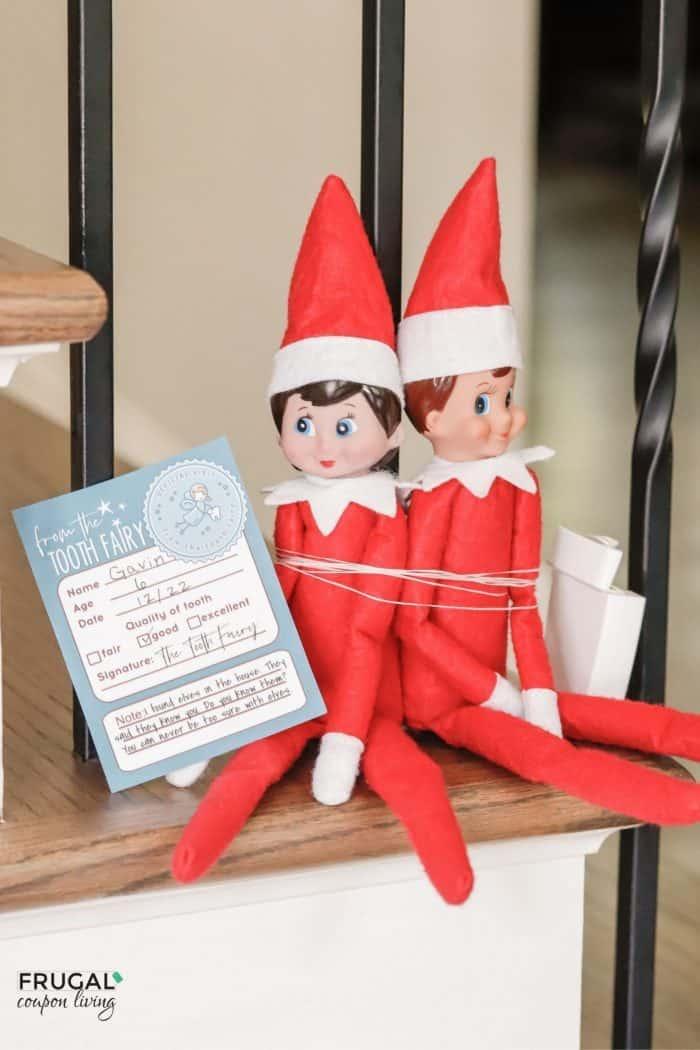 Elf on the Shelf Tooth Fairy Idea