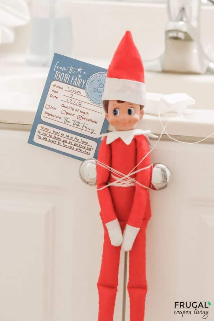 Elf on the Shelf Tooth Fairy Note Printable