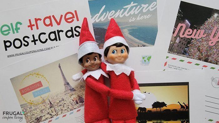 elf on the shelf postcards printable