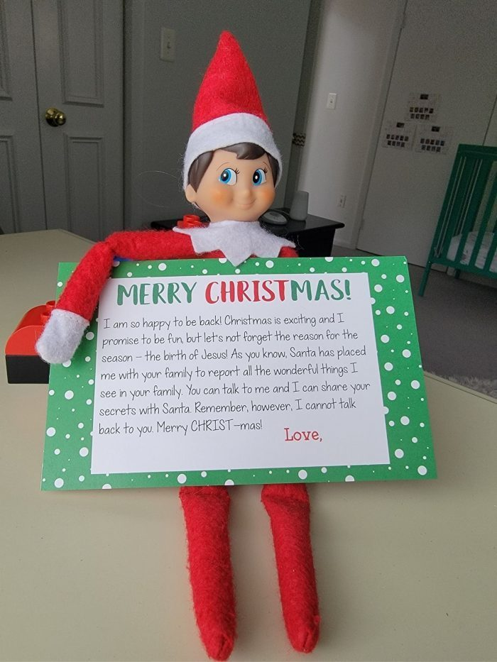 Elf on the Shelf Letter About Jesus