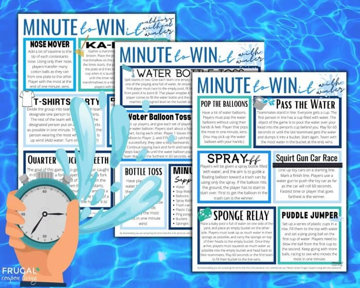 Minute to Win it Water Games for Kids