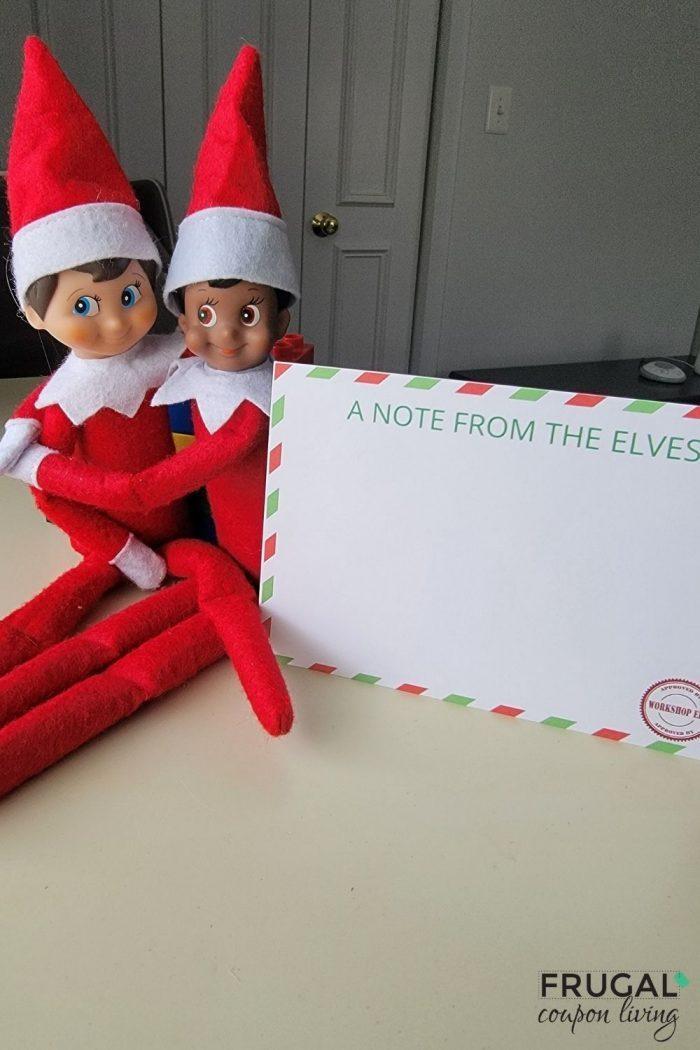 Letter from Elf on the Shelf Elves