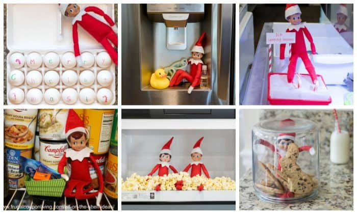 Elf on the Shelf Kitchen Hiding Spots