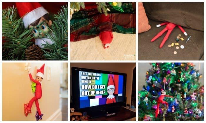 Elf on the Shelf Hiding Spots in the Living Room