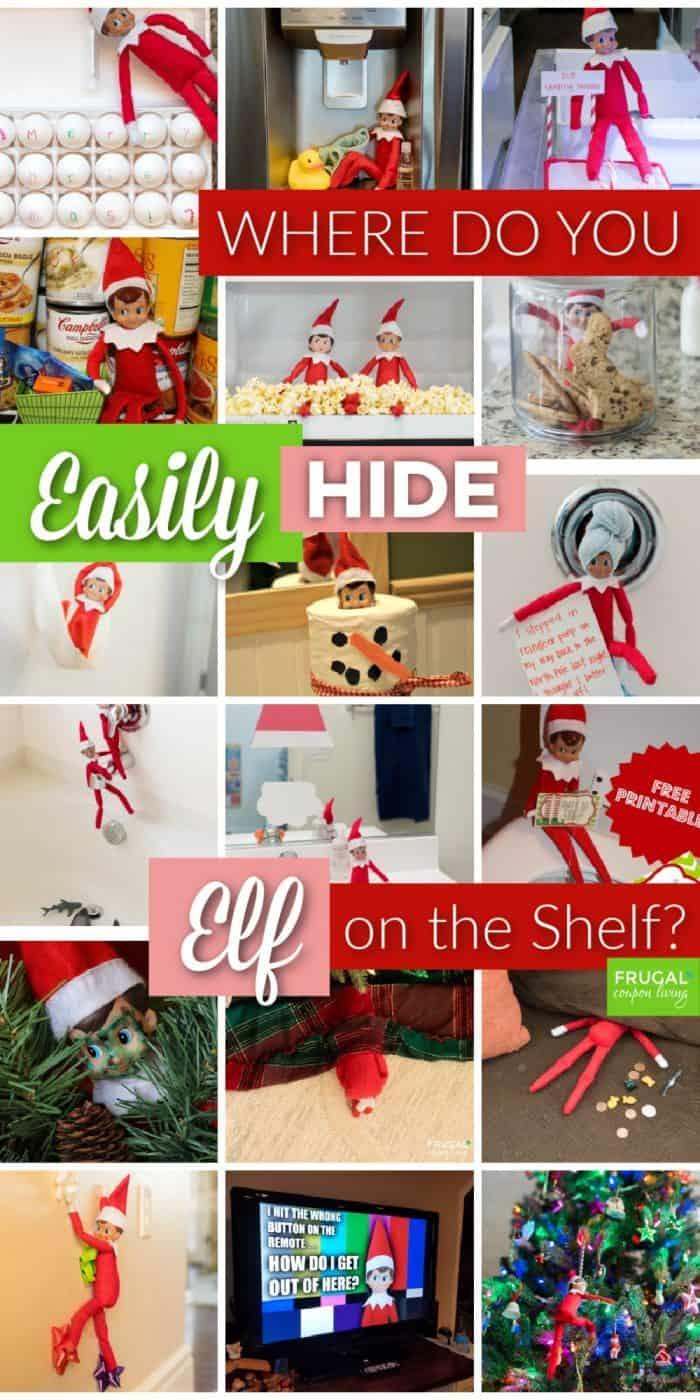 where do you hide the elf on the shelf