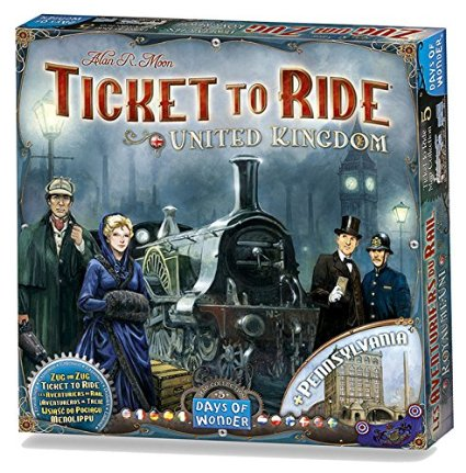 Super popular Board game: TICKET TO RIDE – 3 editions between $32-$34!