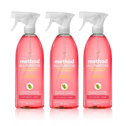Amazon: LOWEST Price! Method All-purpose Natural Surface Cleaner, Pink Grapefruit (3 Count) – only $2.99 per bottle!