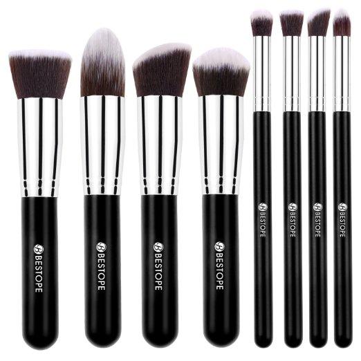 Amazon: Highly Rated – Makeup, Blemish, Foundation 8 piece Brush set!