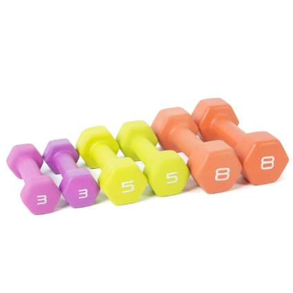 50% off Dumbbell set – 3 sets of weights only $29!