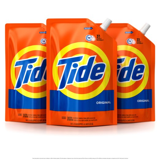 93 Loads of TIDE HE Turbo Clean Detergent – only $15!! 3 pack!