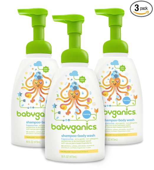 15% off 3 pack of Babyganics Shampoo & Body wash – ALL NATURAL!