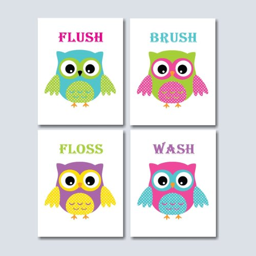 Remodel your kids bathroom – OWL STYLE for cheap!! Starting at $9.99!