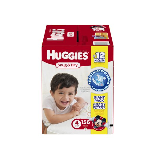 Size 4 — Huggies Diaper Deal, also available for $28.47 with $3 coupon!