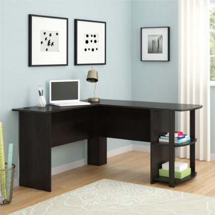 Amazon: Highly Rated – L-Shaped Desk only $68 in Dark Cherry! (regularly $140)